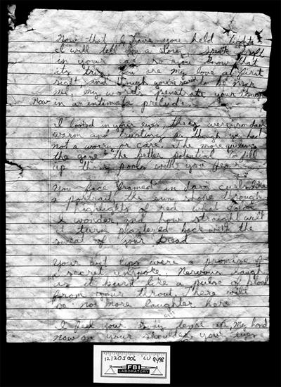 Suicide note left by serial killer Israel Keyes