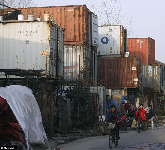 Shanghai, China Shipping Container village