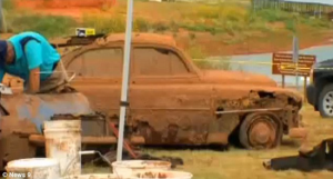 1951 or 1952 Chevrolet found at bottom of Foss Lake in Oklahoma