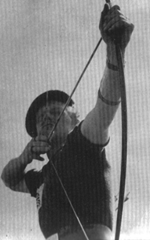 Jack Churchill in the 1939 archery World Championships