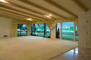 """The """"outdoor"""" view from the main living area"""