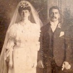 "Esther Pepitone and Michele ""Mike"" Pepitone on their wedding day"