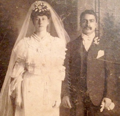 """Esther Pepitone and Michele """"Mike"""" Pepitone on their wedding day"""