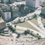 Aerial view of Dealey Plaza in 1967