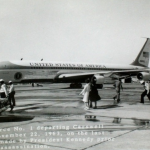 Air Force One departing Carswell Air Force Base in Fort Worth on November 22, 1963
