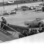 JFK's casket being loaded aboard Air Force One at Love Field in Dallas