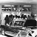 Guarded JFK limo at Parkland Hospital