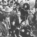 Lee Harvey Oswald at midnight press conference