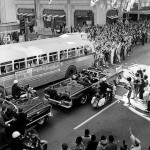 Rare photo of President JFK's motorcade