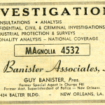 Guy Banister associates investigative agency