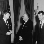 The Kennedy brothers with J. Edgar Hoover