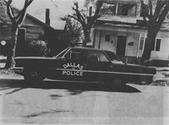 Officer Tippet's Dallas Police patrol car