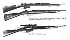 Oswald rifle confusion - photo comparing the two models side by side