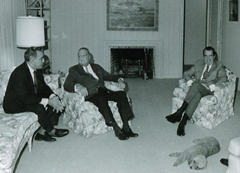 J. Edgar Hoover and President Richard M. Nixon