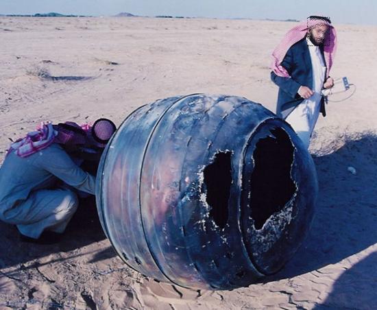 Strange object crashed into Middle East desert