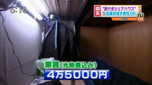 Tiny coffin apartment in China