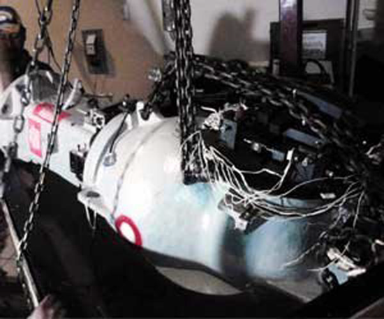 Photo of the containers the radioactive cobalt-60 is housed in