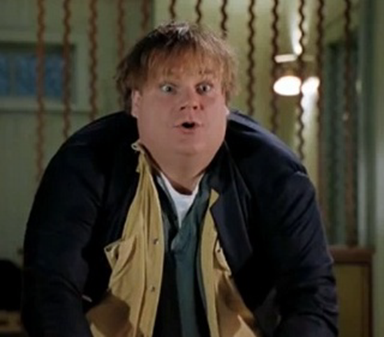Comedian and actor Chris Farley