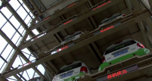 Cars in the vending machine are housed on robotic-controlled platforms