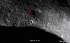 Is the giagantic triangular-shaped object found on the surface of the Mono a secret alien base or spaceship or a trick of light?