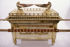 A replica of the Ark of the Covenant
