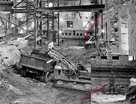 Photo of ghost during White House remodeling - May 25, 1950