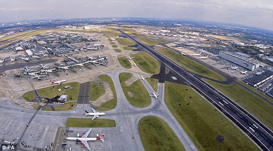 Aerial view of London's Heathrow Airport