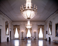 White House East Room where ghost of Abigail Adams has been frequently reported