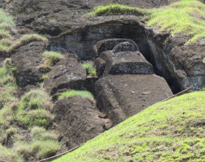 Unfinished Easter Island status still lay in the quarry