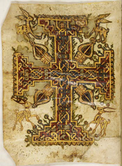 Cover drawing from ancient Coptic manuscript which says Jesus could change his shape at will