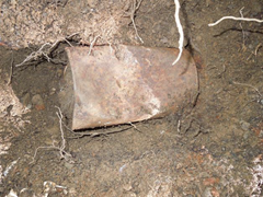 Metal cans that the Saddle Ridge Hoard was found buried in