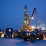 Oil and gas drilling equipment in Siberia thumb