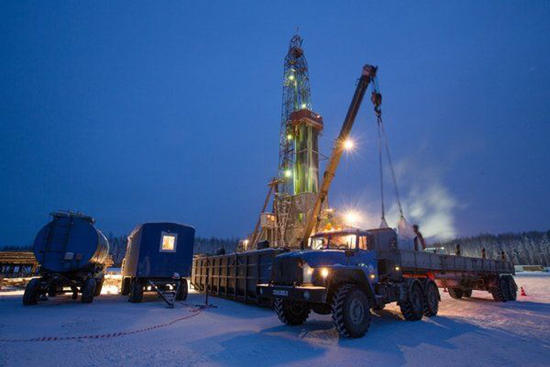 Oil and gas drilling equipment in Siberia