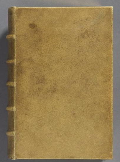 Book bound in human skin - Harvard Library