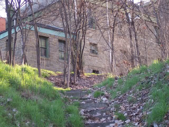 Rear of the Lewiston Civic Theatre where three people vanished in a single night