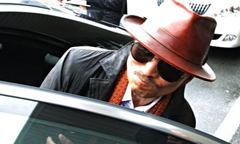 Photo of Kenichi Shinoda, boss of Japan's largest yakuza gang, after his release from prison in 2011