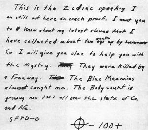 Possible Zodiac letter
