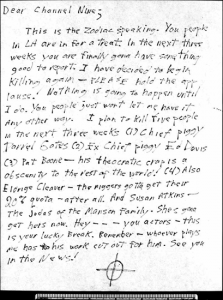 Dear Channel Nine letter sent to KHJ-TV in Los Angeles on May 2, 1978