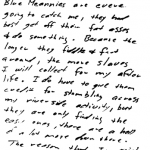 Letter sent to Los Angeles Times on March 13, 1971 (postmarked Pleasanton, California)