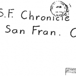 Envelope for Kathleen Johns letter sent to San Francisco Chronicle on July 24, 1970 (postmarked San Francisco)