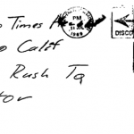 Envelope for cipher sent to Vallejo Times-Herald on July 31, 1969