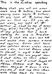 Letter from the Zodiac Killer