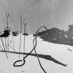 Search and rescue place probes in the ground during their search for the Dylatov Pass expedition members