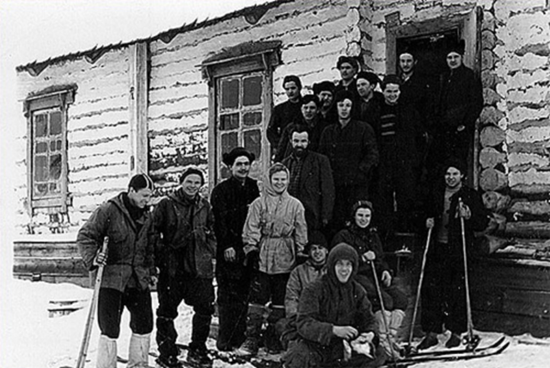 Dylatov Pass expedition members preparing to leave for their fateful journey