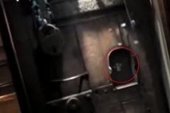 Ghostly spirit (head) of Saint Oliver Plunkett captured on video inside St. Peter's Roman Catholic Church in Drogheda, Ireland