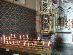 Head of Saint Oliver Plunkett on display inside St. Peter's Roman Catholic Church in Drogheda, Ireland
