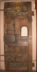 The cell door from the prison cell where Saint Oliver Plunkett was held during his trial and execution