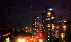 UFOs (formation of bright lights) over Toronto, Canada (July 26, 2014)