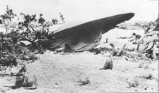 Crashed Roswell UFO