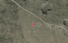 Satellite image of the Roswell UFO crash debris site